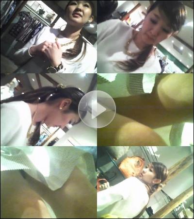 美人店員Pチラ逆さ撮り!ロイドさんの 働くお姉さん FILE226「白セーター ほんわかギャル」