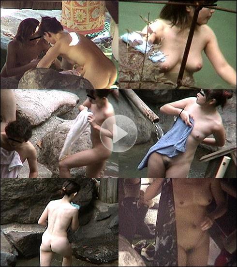 弾ける素肌乙女の露天風呂01