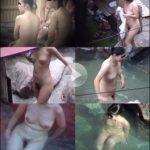 露天風呂に群がる娘たち12